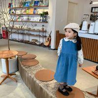 AMU Housen Littérature et Art Vildoroy pour enfants Jupe Vest lâche 2021 Robe coréenne de printemps et d'automne bébé