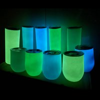 Sublimation Luminous 12oz Egg Tumblers Light in the Dark Cup...