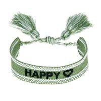 Charme Armbänder Stickerei Gewebte Quaste Für Frauen Geflochtene Handgemachte Verstellbare Armband Freundschaft Armband Mädchen Schmuck Urlaubsgeschenk