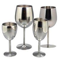 Óculos de vinho HAP 2 Pcs Aço Inoxidável 18/8 Metal Wineglass Bar Champagne Cocktail Beber Copo Encantos Festa de Festa
