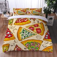 Delicious Pizza Hamburg 3D Print Comforter Bedding Set Duvet Cover Sets Pillowcase Twin Full Queen King Size Home Textile