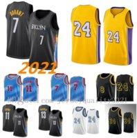 2021 Jersey de basketball 7 Kevin Kyrie 11 Durant Irving Los 23 Angeles 13 Harden 8 Anthony 3 Davis Kyle 0 Kuzma Alex 4 72 Caruso K24B