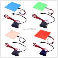 LED-Panel 10x10cm EL-Hintergrundbeleuchtung, + (7 Farben verfügbar) 12V-Inverter-Mix-Bestellung verfügbare Leuchten