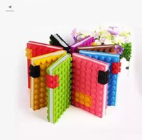 Fidget toys Creative building block notebook a4a5a6a7 Decompression Silica gel puzzle notebooks silicone student notepad DHL cc
