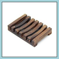 Aessories Home & Gardenvintage Dish Wooden Dishes Tray Holder Storage Soap Rack Box Container For Bath Shower Plate Bathroom Drop Delivery 2
