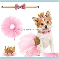 Apparel Dog Supplies Home & Gardenfowecelt Handmade Pets Collar Dogs Hair Bows Skirt Puppy Aessories Products For Diy Pet Party Supplie Drop