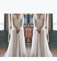 СКОРОСТЬ Hippie Boho Beach Wedding платья 2020 длинные рукава V-образным вырезом плюс размер шифон дешевые летние родильные родильные родильные платья