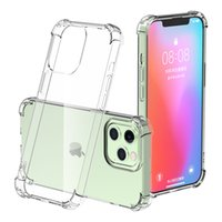 Transparent Shockproof Acrylic Hybrid Armor Soft Phone Cases for iPhone 13 12 Mini 11 Pro XS Max XR X 8 7 Plus Top Quality Clear Protect Case Back Cover