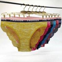 Women's Panties 6 Pcs Lot Ladies Sexy Woman Underwear Lingerie Female Floral Lace Intimates Transparent Women's Underpants Cotton Pantys