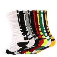 Calcetines para hombre Toalla de toalla Deportes Terry Engrosamiento Antidkid Elite Baloncesto High Tube Socks
