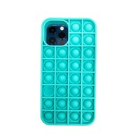 Silicone Cell Phone Cases for iphone 12 mini pro max pop it fidget toys sensory push bubble pack stress 50X