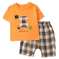 Baby Clothing Sets Boys Suit Children Outfit Clothes Summer Cotton Short Sleeve Cartoon T-shirts Shorts Pants 2Pcs Casual Kids Wear 1-6Y B5051
