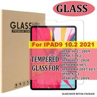 For ipad 9 10.2 2021 2020 2019 ipa7 iPad Pro 10.5 air 3 air3 10.5 10.2 inch 9H Clear Tempered Glass tablet Screen Protector film with retail packag