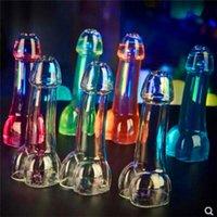 القضيب الزجاج زجاجة كوكتيل النبيذ للحزب ليلة بار KTV تظهر لا الرش. أكواب مشروب شرب النظارات