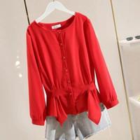 Women's Blouses & Shirts Women Blouse Spring And Autumn Nine-Quarter Sleeve Skirt Chiffon Shirt Top Long Blusas Mujer De Moda
