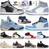 1 High Court Mor Erkek Basketbol Ayakkabıları Shadow Top 3 1s Hyper Royal University Blue 4 Sail Black Cat Bred 4s Jumpman Sneakers Trainer