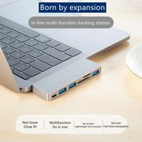 2021 HOPINS 6 in 2 USB C Hub with Type-c, 3.0, 1 USB2.0, and SD TF Dual Card Reader Adapter Compatible 2016-2020 MacBook Pro 13 15 16 M1