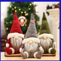 미국 주식! 버팔로 크리스마스 인형 인형 수제 크리스마스 그놈 얼굴리스 봉제 장난감 선물 장식품 키즈 크리스마스 장식 519