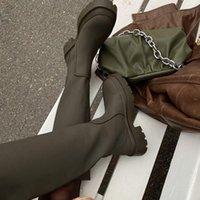 Boots Brand Design Ins Women Long Flat Heel Shoes Winter Warm Knee High Fashion Female Footwear Botas De Mujer