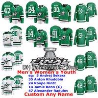 Stanley Cup Finale Dallas Stars Jerseys Andrej Sekera Jersey Anton Khudobin Roope Hinttz Jamie Benn Alexander Radulov Hockey Trikots genäht