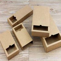 Gift Wrap 10pcs lot Kraft Paper Box Drawer Packaging Brown Craft Cardboard Boxes For Candy Soap
