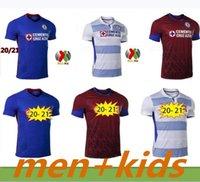 2021 Top Quality Cruz Azul Home Soccer Jersey 20-21 Away Camicia da calcio rosso Liga MX Third Men + Kids Kit Camiseta de Fútbol