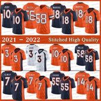 Stitched 18 Peyton Manning Football Jersey 3 Drew Lock 58 von Miller 10 Jerry Jeudy 7 John Elway 55 Bradley Chubb 14 Courtland Sutton 13 K.J. Jerseys de alta calidad de Hamler