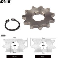 Parts Motorcycle Front Engine Sprocket 420 17mm 20mm 11 Tooth For Stomp Upower Dirt Pit Bike ATV Quad Go Kart Moped Buggy Scooter