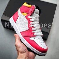 1 High OG Light Fusion Mens Shoe Red White Laser Orange Black Casual Trainer Outdoor Sports Women Shoes