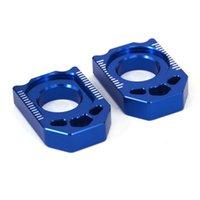 Axle blokkettingregelaar voor YZ125 250 YZ250F YZ450F YZ250X YZ250FX WR250R BLUE