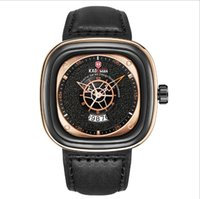 KADEMAN Brand Fashon Cool Large Dial Mens Watches Square Quartz Watch Calendar Accurate Travel Time Generous Male Wristwatches