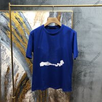 2021 New Europe Luxury Mens Lettera Stampa Tshirt Mens Solido Colore Bianco Nuvole Stampa T-shirt Casaul Designer T-shirt