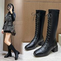 Autumn and winter new style boots fashion trend sexy beauty with street European American style.Knight Single Shoe
