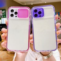 2 in 1 Camera Lens Protection Cases Phone Case for iPhone 13 12 11 Pro MAX XS XR 7 8 plus Shockproof Clear PC+TPU
