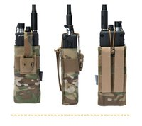 Stuff Sacks 2021 Tactical Radio Pouch For RRV Vest Walkie Talkie MOLLE MBITR TRI PRC-148 152 Tool 3552