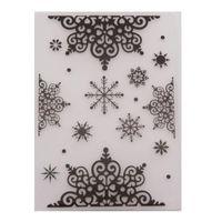 Bożenarodzeniowy płatki śniegu Tłoczenie foldery 2021 dla karcianego papieru rzemiosła dostaw Scrapbooking Plastikowy Embosser Wzornik Narzędzia