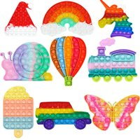 Push Pops System Your Bubble Hot Air Balloon Fidget Car Autism Toys Special Sensory Anti-stress Needs Relief
