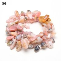 "GuaiGuai Jewelry 20"" 5 Strands Natural Gems Stone Pink Opal Crystal Bracelet Set Handmade Cute For Women Beaded,"