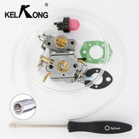 Motorcycle Fuel System KELKONG OEM Carb Kit Set 2 Pieces With Primer Bulb Filter For Chainsaws C1M-W26C 545070601 P3314 Splined7 Screw Tool