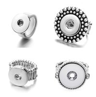 Band Jewelryband Rings Jewelry20Pcs Lot Fashion Flexible Adjustable 18Mm Metal Siery Ring Party Charm Snap Button Jewelry Drop Delivery 2021