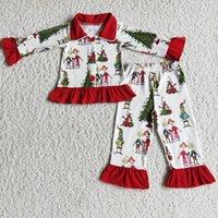 Kids Designer Clothes Girls Pajamas Set Christmas Popular Toddler Baby Girl Nightwear Fashion Kid Sibling Pajama Boutique Boy Sleepwear Wholesale Children Sets