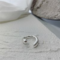 Niche Designer Ring Simple Twisted Shape Opening Adjustable Joints Trendy Men And Women Fashion Hundred Matching Accessories