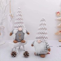 Plush Doll Faceless Santa Gnome Dolls Ornaments Christmas Tree Hang Pendant Christmas Party Decorations for Home Kids Toy EWB10384