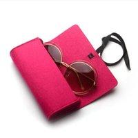 Sunglasses Cases & Bags 2021 Fashion Glasses Box Solid Color Safe Eyeglasses Case Reading Fold Up Women Men