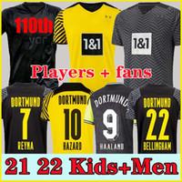 مشجعي اللاعب 1990 طبعة محدودة إسماند Reus Borussia 21 22 4th Dortmund Soccer Jersey 2021 2022 Bellingham Sancho Hummels Brandt Men Soccer Jerseys + Kit Kit