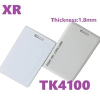 Xiruoer 100pcs box Thickness 1.8mm RFID TK4100 Card 125KHZ RFID Card EM Thick ID cards For access control and attendance With ID Printing