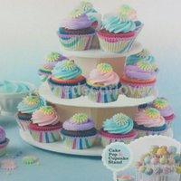 기타 Bakeware 3 계층 플라스틱 케이크 롤리팝 컵케익 디스플레이 스탠드 타워 홀더 42 팝