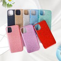 프리미엄 3 in 1 Bling Glitter 휴대 전화 케이스 아이폰 12 11 Pro XS Max X XR 7 8 Plus Samsung S21 S20 Note20 울트라 A72 A52 A32 A02S A21S A71 A51 A11 Huawei Y7a Y9s Y8s