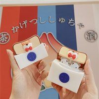 3D Akita Ins Toast Bread Earphone Cases for AirPods Pro Case Silicone Headphones Covers for Air Pods 2 Wireless Charging Box