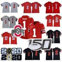 NCAA Ohio State Buckeyes Jersey 1 Justin Fields 2 Chase Young 7 Dwayne Haskins JR 97 Nick Bosa 15 Elliott ASU College Football Jersey